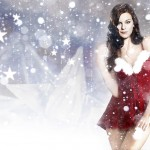 Cassidy Freeman As Sexy Santa Wallpaper