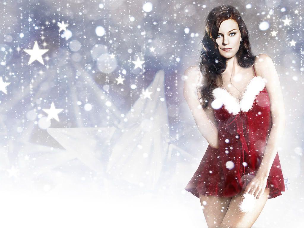 Cassidy Freeman As Sexy Santa Wallpaper 1024x768