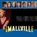 Chloe Sullivan With Smallville Characters Wallpaper
