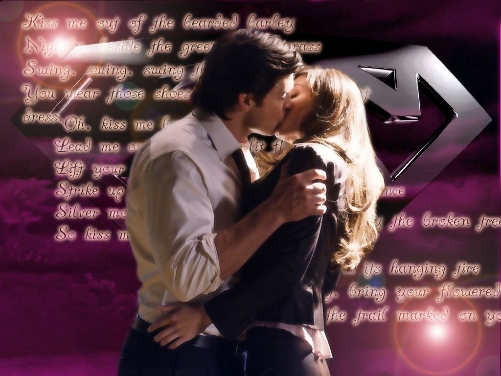 Clark Kent And Lois Lane Kiss Me Wallpaper 1024x768
