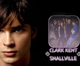 Clark Kent Portrait With Cast Wallpaper