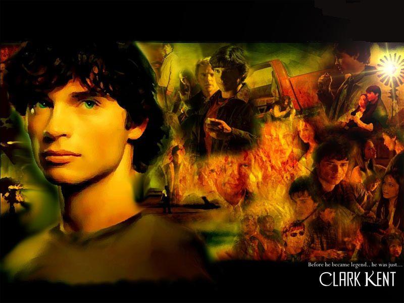 Clark Kent Smallville Screenshot Collage Wallpaper 800x600