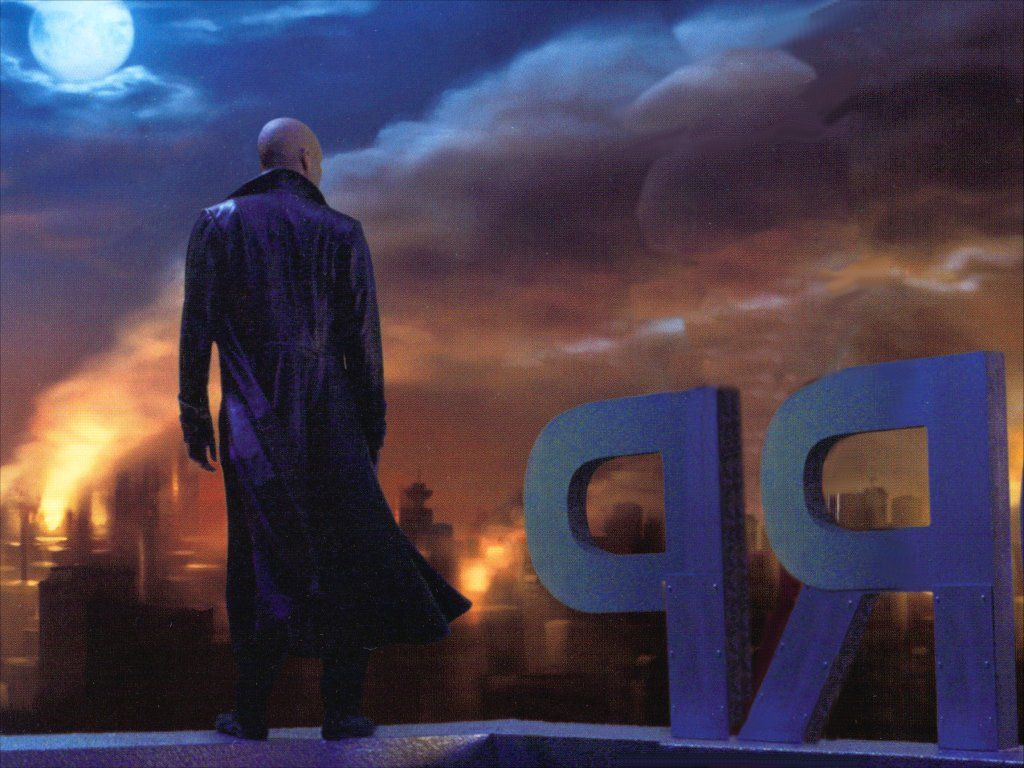 Lex Luthor On Roof Wallpaper 1024x768