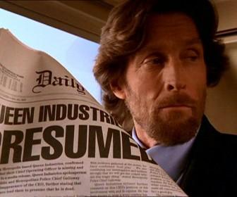 Lionel Luthor Reading Newspaper Wallpaper