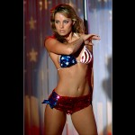 Lois Lane American Flag Bikini Wallpaper