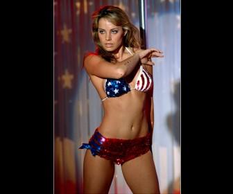 Lois Lane American Flag Bikini Wallpaper