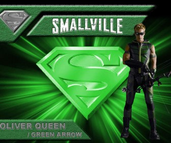 Oliver Queen As Green Arrow Smallville Background Wallpaper