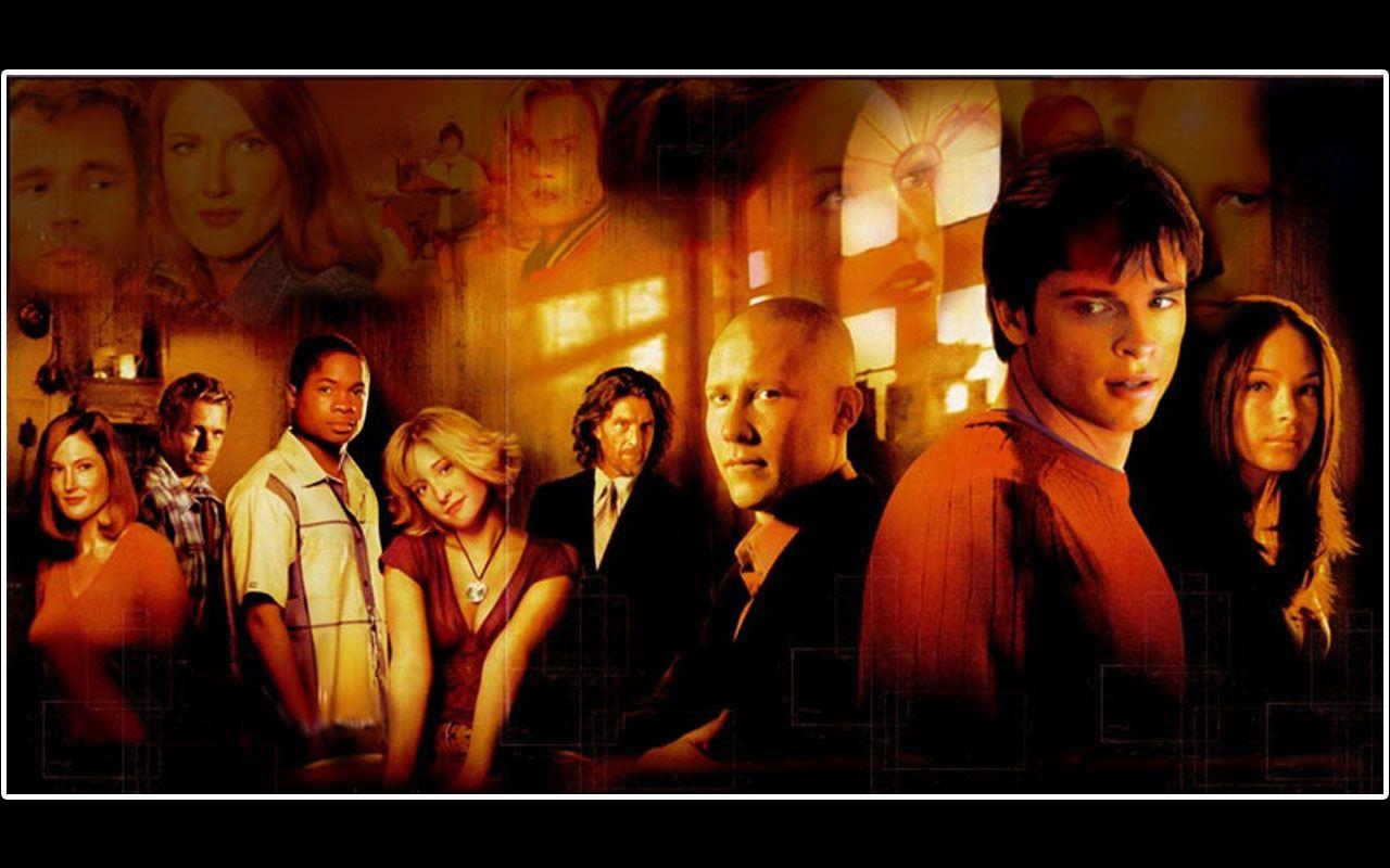 Smallville Cast Portrait Collage Wallpaper 1280x800