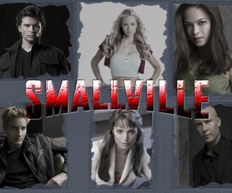 Smallville Cast Portraits Gray Background Wallpaper
