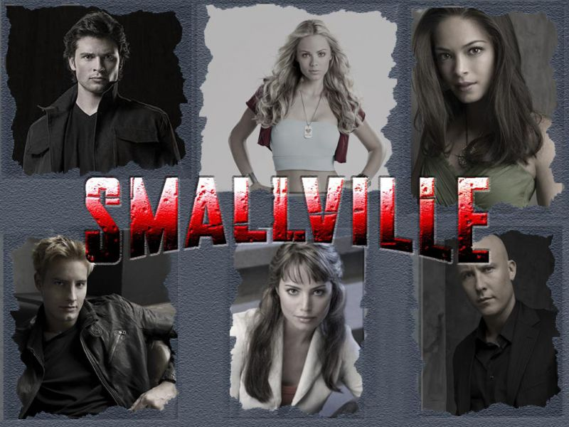 Smallville Cast Portraits Gray Background Wallpaper 800x600