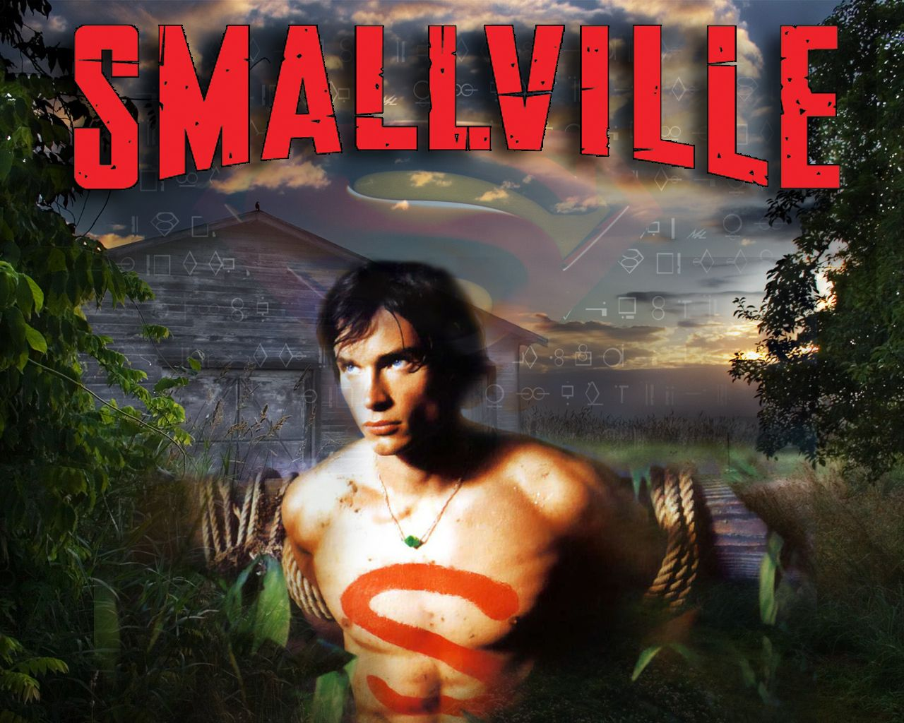 Tom Welling Smallville Logo Wallpaper 1280x1024